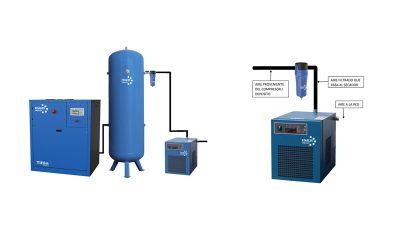 Colocación de un filtro separador de partículas a la entrada del secador